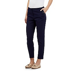 Red Herring - Navy textured cropped trousers