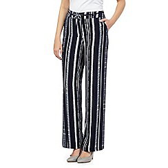 Red Herring - Navy striped wide leg trousers