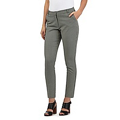 Red Herring - Cream geometric summer slim trousers