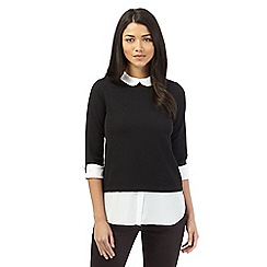 Red Herring - Black 2 in 1 three quarter length blouse