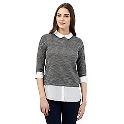 Red Herring - Grey mock shirt insert top