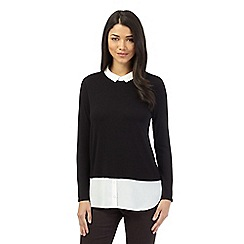 Red Herring - Black 2-in-1 long sleeved blouse