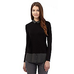 Red Herring - Black polka dot layered look blouse