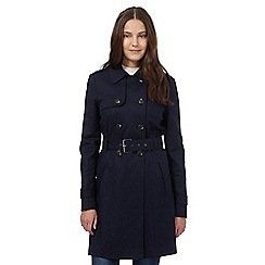 Red Herring - Navy mac coat