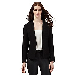 Red Herring - Black textured blazer jacket