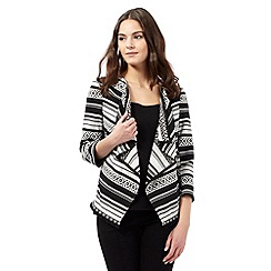 Red Herring - Black Aztec-inspired striped jacket