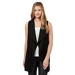 Red Herring - Black textured longline waistcoat