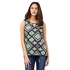 Red Herring - Green geometric print top