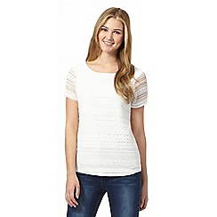 Red Herring - Ivory lace front top
