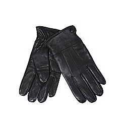 The Collection - Black leather gloves