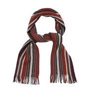 Designer grey striped lambswool scarf