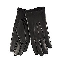 RJR.John Rocha - Black leather fleece lined gloves
