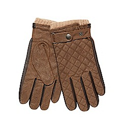 RJR.John Rocha - Brown quilted leather gloves