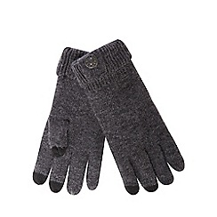 RJR.John Rocha - Grey button wool rich touch screen gloves