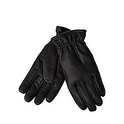 RJR.John Rocha - Black borg lined leather gloves