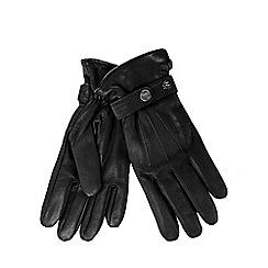 RJR.John Rocha - Black leather strap gloves