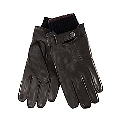 RJR.John Rocha - Brown leather touchscreen gloves
