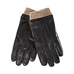 Hammond & Co. by Patrick Grant - Black leather touchscreen gloves