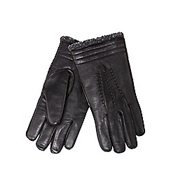 Hammond & Co. by Patrick Grant - Black leather borg lined gloves