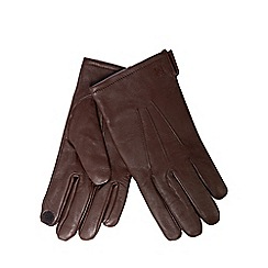 Hammond & Co. by Patrick Grant - Brown leather touchscreen gloves