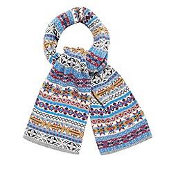 Red Herring - Grey fairisle scarf