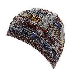 Red Herring - Grey colour cable beanie