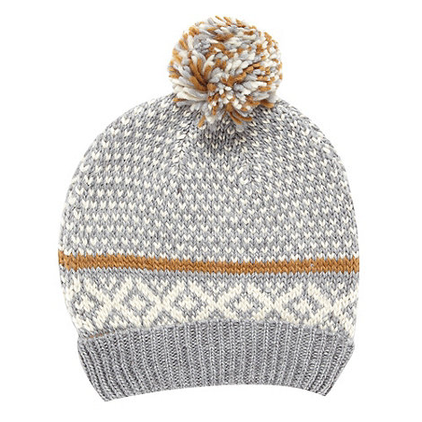 J by Jasper Conran - Designer grey fairisle hat