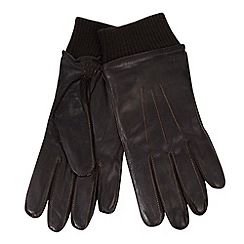 RJR.John Rocha - Designer dark brown contrast stitched leather gloves