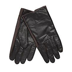 Jeff Banks - Designer black stitch leather gloves