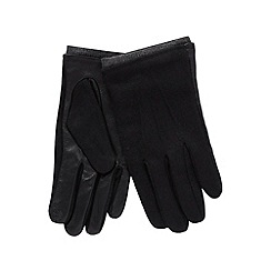 Jeff Banks - Designer black leather touch screen gloves