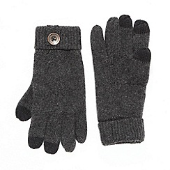 Mantaray - Grey thermal touch screen gloves