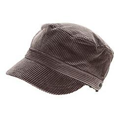 RJR.John Rocha - Designer grey chunky cord traindriver hat
