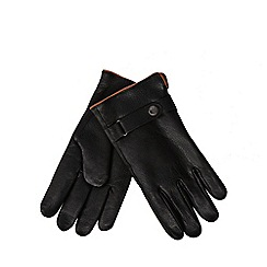 RJR.John Rocha - Black leather sherpa gloves