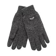 Dark grey knitted gloves