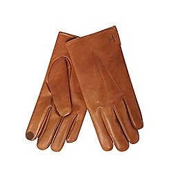 Hammond & Co. by Patrick Grant - Tan leather touchscreen gloves