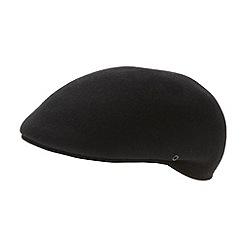 Osborne - Black moulded flat cap