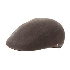 Osborne - Brown moulded flat cap