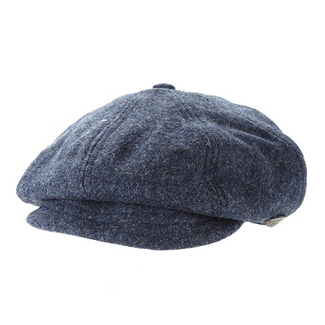 Hammond & Co. by Patrick Grant - Designer navy wool baker boy cap
