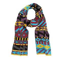 Red Herring - Aqua bold geometric scarf