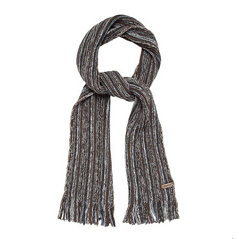 Mantaray - Brown striped scarf