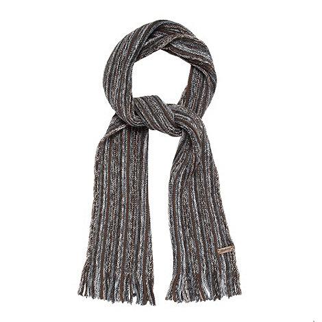 Mantaray - Brown striped scarf