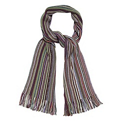 Mantaray - Purple fine striped scarf