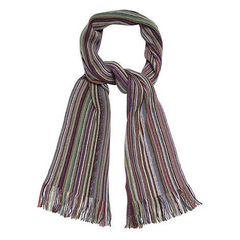 Mantaray - Purple fine striped scarf