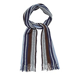Mantaray - Blue wide multi striped scarf
