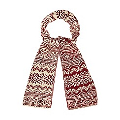 Mantaray - Red nordic knitted reversible scarf