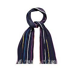 Maine New England - Blue multi striped scarf