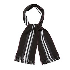 Jeff Banks - Designer black centre striped scarf