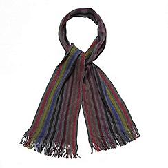 Jeff Banks - Designer dark grey multi striped scarf