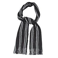 Jeff Banks - Designer dark grey woven striped scarf