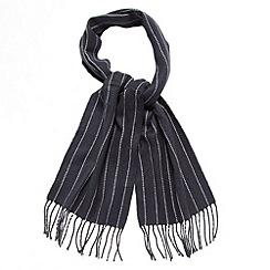 Jeff Banks - Designer navy pinstriped scarf
